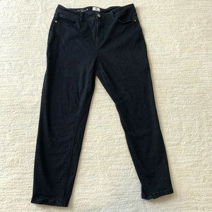 DC Jeans Size 16 Black High Rise High Waist Tapered Straight Leg